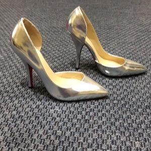 ShoeDazzle * Silver D'Orsey Pumps * Size 9.5